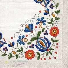 Folk embroidery flower (kvety)
