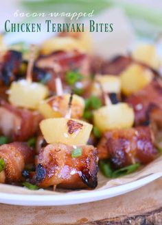 Bacon Wrapped Chicken Teriyaki Bites