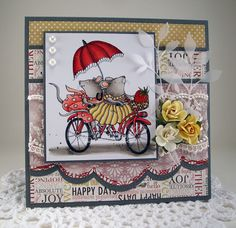 bicycle built for two card by Tracy MacDonald