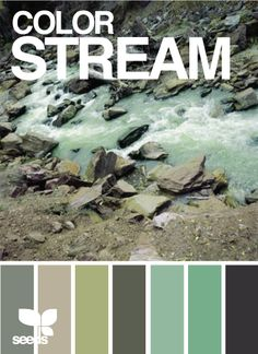 Natural stone grey, green and blue colour / color palette inspiration.