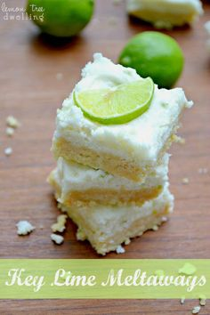 No-Bake Key Lime Meltaways - sweet, tart, melt-in-your-mouth goodness! Looks too easy to be true! Dessert Crepes, Dessert Bars, Summer Desserts, Just Desserts, Key Lime Desserts, Lemon Desserts, Biscotti, Muffins, Yummy Treats