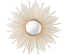 """So funktioniert der Look » Retro Glam «: We love Sunburst Mirrors! Lasst die Sonne in Euer Zuhause einziehen. Der Wandspiegel Sunburst von Two's Company ist das perfekte Accessoire dafür. Seine goldfarbenen """"Strahlen"""" umrahmen den runden Sonnenspiegel und sorgen bei jedem Blick für gute Laune. Der perfekte Eyecatcher für einen eleganten Retro Look! // Spiegel Gold Sonnenspiegel Dekoration Einrichten"""