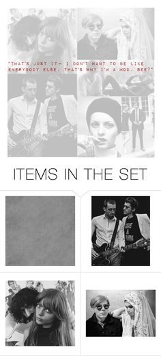 """""""Who I Am"""" by gracehundley ❤ liked on Polyvore featuring art, modern, vintage, Mod, contestentry and modernist"""
