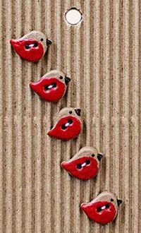 Pottery ceramics clay glaze heart love red swirly...