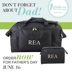 We've had 12 wonderful days to celebrate Mom, but we can't forget about the pickle jar opener, the flat tire changer, the tree-house builder, the home protector, the always dependable Dad! Get ready and gear up for Father's day on June 16th.  http://www.myinitials-inc.com/EMILYIRISH/