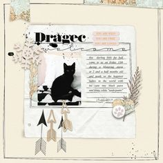 """""""dragec""""- digital scrapbook layout by paddy wolf- made with marisa lerin """"layout template #27"""" and """"winter day"""" kit- available at pixelscrapper.com"""