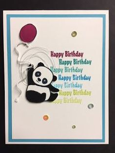 My Creative Corner!: Party Pandas, 2018 Sale-a-Bration, Children's Birthday Card, Stampin' Up!, Rubber Stamping, Handmade Cards
