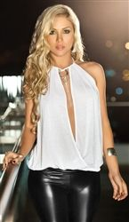 Clubwear Sexy Choker Neckline Top, Club Tops