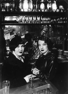 Two girls in a parisian bar, Paris circa 1932, Brassaï