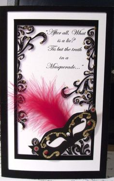 Masquerade theme Party Invitation I love the dialect used her and the texture