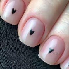 Dot Nail Art, Pink Nail Art, Heart Nail Designs, Cute Nail Designs, Minimalist Nails, Funky Nails, Cute Nails, Stylish Nails, Trendy Nails