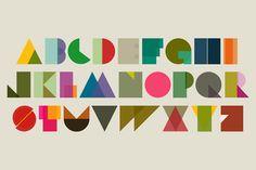 Shapeset alphabet poster by Tim Fishlock
