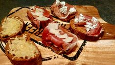 3x bruschetta – Sport Foodblog Bruschetta, Ricotta, Camembert Cheese, Bread, Drinks, Breakfast, Drinking, Morning Coffee, Beverages