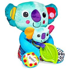 Lamaze Cuddle & Squeak Koalas                  Lamaze's Cuddle & Squeak Koalas are more than just stuffed animals to love. The baby is a rattle and clutches a leafy teether. (6 months and up, $20)