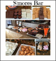 Campout party with smores bar!