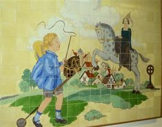 A tile Story Book panel at a Childrens Hospital by Carters Tiles Poole Dorset