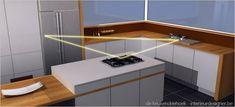 keuken driehoek of werkdriehoek van de keuken ergonomie