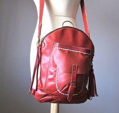 Cross body bag Saddle leather bag Leather by VitalTemptation