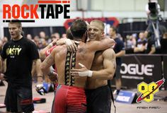 Rich Froning sporting his BSN powered RockTape at the 2013 Regionals