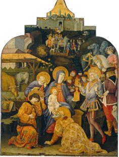 The Adoration of the Magi / La Adoración de los Reyes Magos // c. 1470-1475 // Benvenuto di Giovanni // National Gallery of Art // #Jesus #Christ #Epiphany