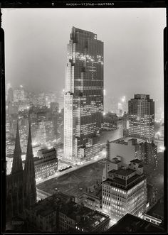 Rockefeller Center and RCA Building from 515 Madison Ave,a photo by Samuel H Gottscho New York, December 5th, 1933