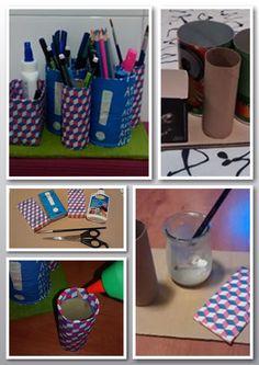 Hacer un organizador para pinturas reciclando envases.