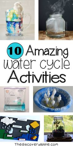 10 amazing water cycle activities and extra resources! 10 amazing water cycle activities and extra resources! Water Cycle For Kids, Water Cycle Craft, Water Cycle Model, Water Cycle Project, Water Cycle Activities, Weather Activities, Kindergarten Activities, Science Activities, Water Cycle Experiments