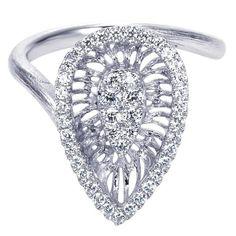 Gabriel NY   White Gold Fashion Ring