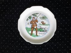 Vintage Davy Crockett Frontiersman from Tennessee Collectible Plate by TheCelticBelle on Etsy