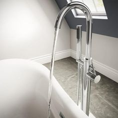 Buy Freestanding Bath Shower Mixer Tap - Range from Appliances Direct - the UK's leading online appliance specialist Freestanding Bath Taps, Amazing Bathrooms, Better Bathrooms, Bath Shower Mixer Taps, Basin Taps, Upstairs Bathrooms, Water Systems, Shower Heads, Chrome Finish