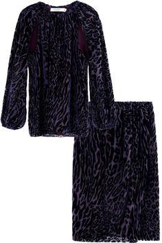 Altuzarra top and skirt. See our favorite velvet finds:
