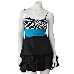 Speechless Poplin Zebra Pick Up-Style Dress