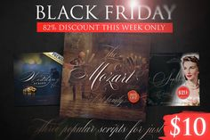 Black Friday Sale - 3 popular fonts - Script