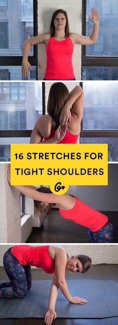 16 Simple Stretches for Tight Shoulders #shoulder #stretches #fitness http://greatist.com/move/stretches-for-tight-shoulders
