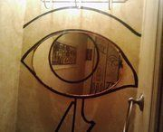 Debbie's idea: Eye of Horus mirror collaboration, painted by me