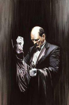 Alfred ha apoyado incondicionalmente a su joven amo, ofreciéndole protección y cariño, y lo ha ayudado a convertirse en lo que es ahora, el Caballero de la Noche.