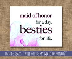 Wedding Maid of Honor / Besties for Life Card by RockCandieDesigns, $4.25