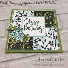 The Craft Spa - Stampin' Up! UK independent demonstrator : Petal Passion meets Stitched Squares