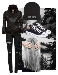 """""""I'm Two Quarters and a Heart Down"""" by katielynnr ❤ liked on Polyvore featuring Frame Denim, Kill Brand, Converse and xO Design"""
