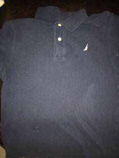405afa45e873 Navy Blue Nautica Collar Shirt #fashion #clothing #shoes #accessories  #mensclothing #