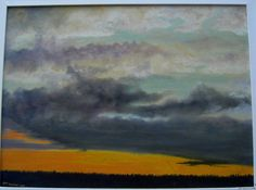 After the Storm, oil, 12x16, may 1963