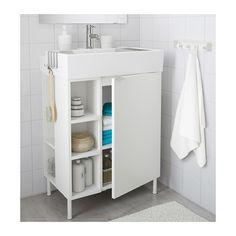 LILLÅNGEN Washbasin cab 1 door/2 end units - white, 60x41x87 cm - IKEA