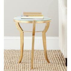 Safavieh Treasures Ormond Gold/ White Top Accent Table