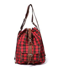 Convertible Plaid Backpack – Backpacks | yeswalker | Free worldwide shipping on every order