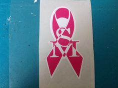 Cancer awareness decals.