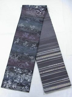 This is a fashionable Fukuro obi with jumping rabbit, flying crane and seasonal flowers pattern, which is woven
