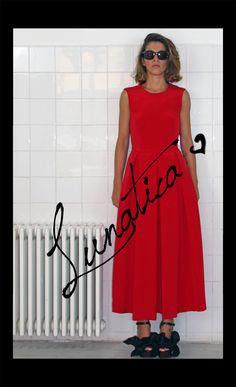 Red, rosso, seta, silk, cady, night, noir, sexy, bon ton, milano, made in italy, black, heart, pretty, amazing, sensual, elegante, Lunatica