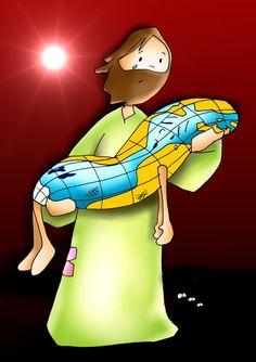 Salirse del camino. A veces el mundo, pierde la alegría y se enferma de tristeza, pero allí está DIOS para sanarlo con su gran AMOR