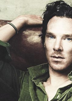 Benedict Cumberbatch - yes I know just another version of the photo but it is too good not to pin again (and again), especially since some darling has kindly removed the horrendous overly blue photoshopping on his eyes that Vogue did. We like Ben's eyes the way they are, thank you.
