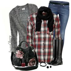 Jeans and a Cardigan, created by immacherry on Polyvore